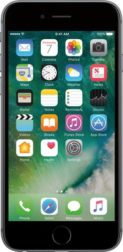 Apple iPhone 6 - Smartphone - 4G LTE - 32 GB - CDMA / GSM - 4.7u0022 - 1334 x 750 pixels (326 ppi) - Retina HD - 8 MP (1.2 MP front camera) - Cricket - space gray