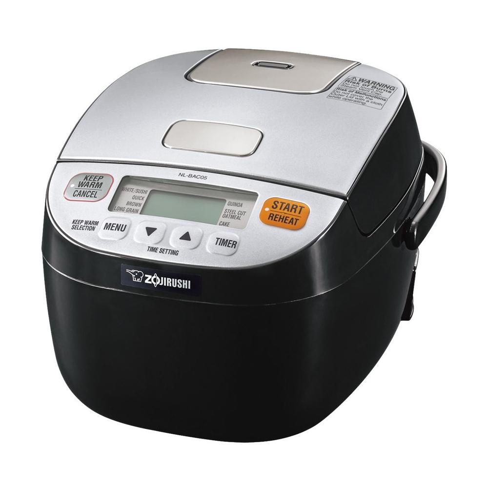 Zojirushi - Micom 0.5-Quart Rice Cooker - Silver/black 5900225