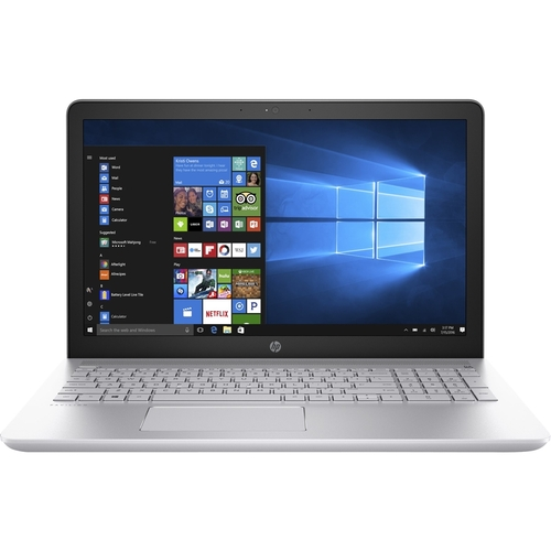 "HP - 15.6"" Touch-Screen Laptop - Intel Core i5 - 8GB Memory - 1TB Hard Drive - HP sand blast in mineral silver and natural silver"
