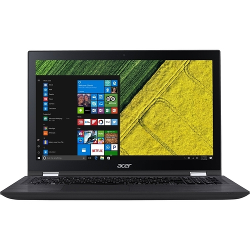 "Acer - 2-in-1 15.6"" Refurbished Touch-Screen Laptop - Intel Core i7 - 12GB Memory - 1TB Hard Drive - Black"
