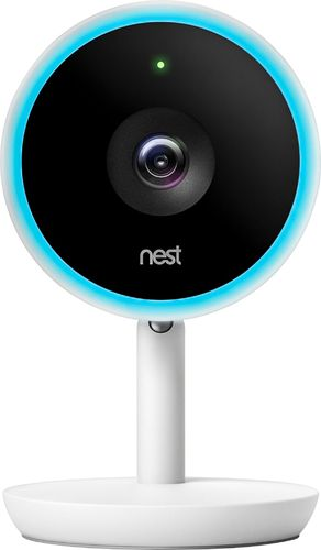 Nest - Nest Cam IQ Indoor Security Camera - White