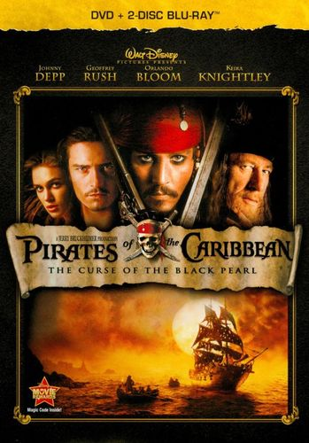 Pirates of the Caribbean: The Curse of the Black Pearl [3 Discs] [DVD/Blu-ray] [Blu-ray/DVD] [2003] 5907026