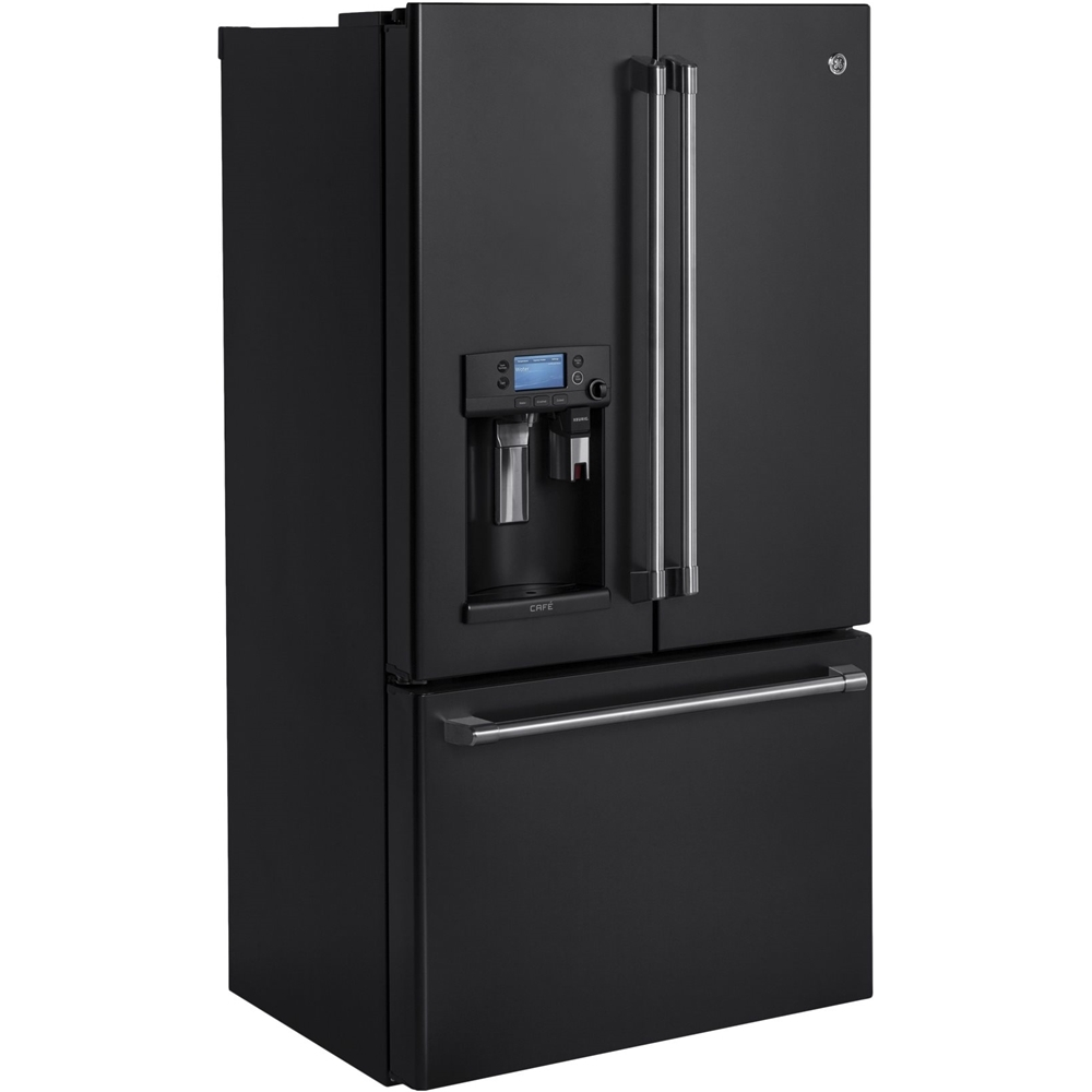 GE   Café Series 22.2 Cu. Ft. French Door Counter Depth Refrigerator With  Keurig Brewing System   Black Slate   Reviews, Features, And Prices At ...