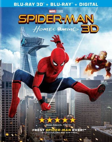 Spider-Man: Homecoming [3D] [Includes Digital Copy] [Blu-ray] [Blu-ray/Blu-ray 3D] [2017] 5916904