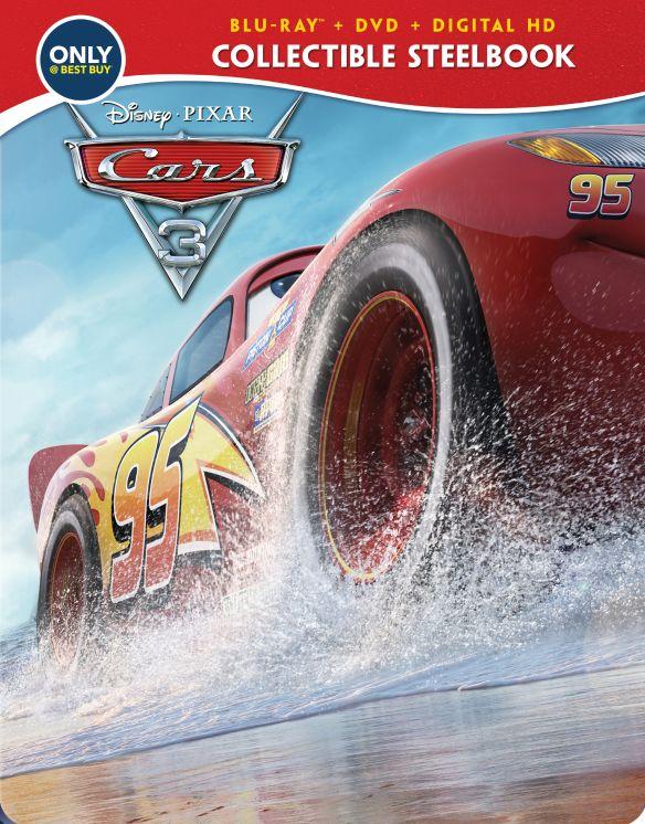 Cars 3 [SteelBook] [Includes Digital Copy] [Blu-ray/DVD] [Only @ Best Buy] [2017] 5923602
