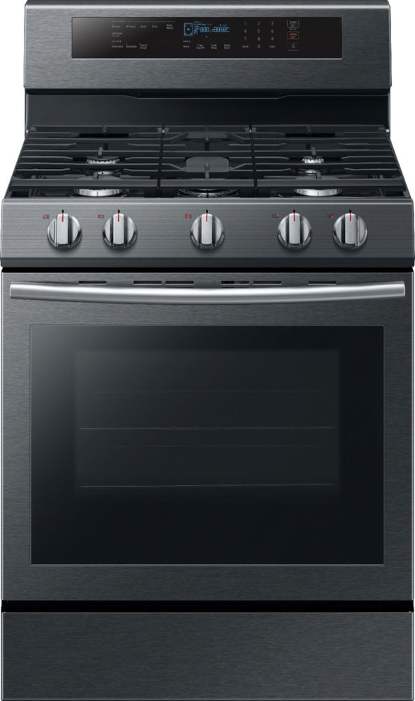 Samsung 5.8 Cu. Ft. True Convection with Illuminated Knobs Freestanding Gas Range Black stainless steel NX58M6630SG