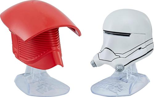 Hasbro - Star Wars Titanium Series Elite Praetorian Guard & First Order Flametrooper Helmets - Red/White 5937105