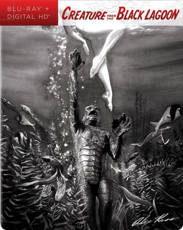 Creature from the Black Lagoon: Alex Ross SteelBook Art [Blu-ray] [SteelBook] [Only @ Best Buy] [1954] 5940806