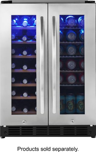 Insignia 42 Bottle/114 Can Built-in Dual Zone Wine & Beverage Cooler Stainless S