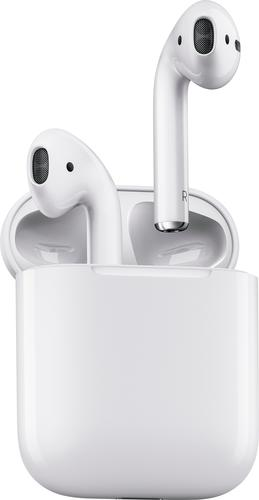 Apple - Geek Squad Certified Refurbished AirPods with Charging Case (1st Generation) - White