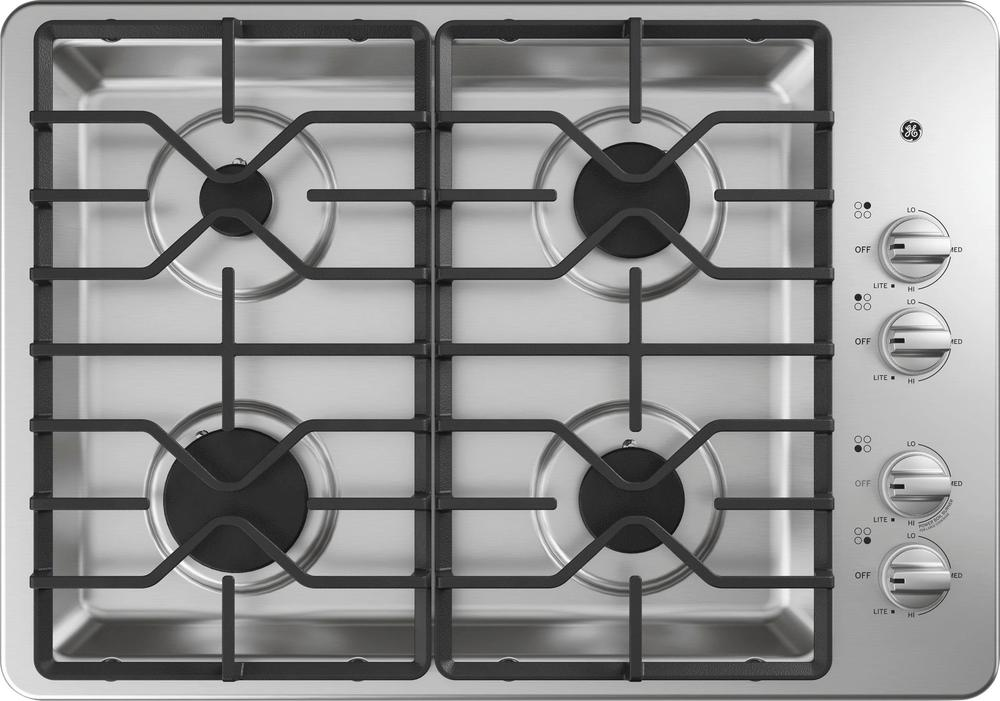 "GE JGP3030SLSS 30"" Built-In Gas Cooktop Stainless steel"