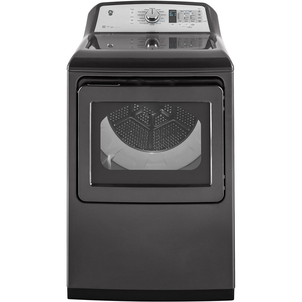 GE GTD75GCPLDG 7.4 Cu. Ft. 14-Cycle Gas Dryer with Steam Diamond Gray
