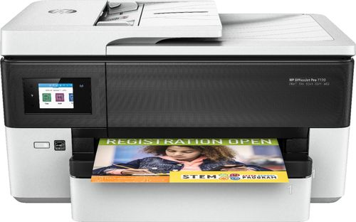 HP - OfficeJet Pro 7720 Wireless All-In-One Printer - White