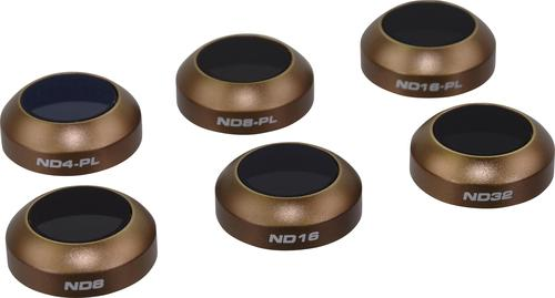 polarpro cinema series filter 6-pack (nd4, nd8, nd16, nd4/pl, nd8/pl, nd16/pl) for dji mavic pro/mavic platinum