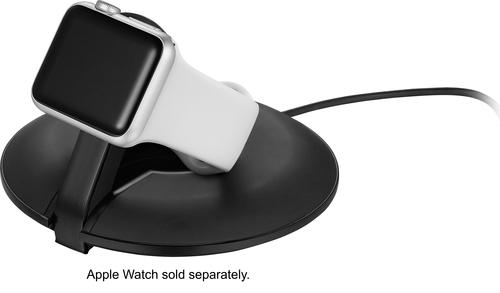 Platinum - Charging Stand for Apple Watch™ - Black Designed for Apple Watch, Apple Watch Sport and Apple Watch Edition; soft-touch coating; black matte hardware