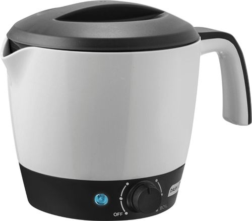 Dash - 1.1-Quart Multi Cooker - white/black