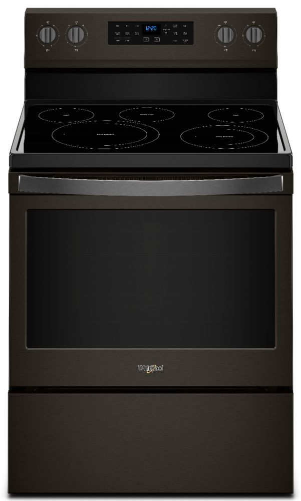 Whirlpool 5.3 Cu. Ft. Self-Cleaning Freestanding Electric Convection Range Black stainless steel WFE550S0HV