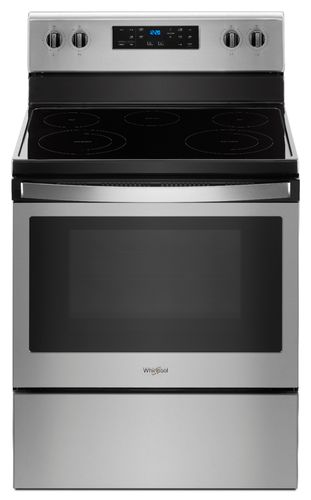 Whirlpool WFE505W0HZ - Range - freestanding - width: 29.9 in - depth: 27.8 in - height: 47.9 in - with self-cleaning - stainless steel