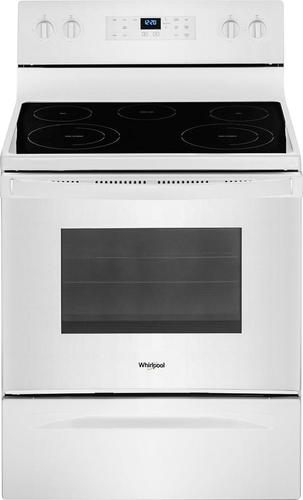 Whirlpool - 5.3 Cu. Ft. Self-Cleaning Freestanding Electric Range - White