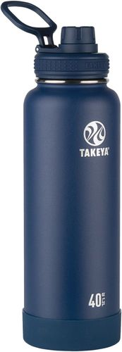 Takeya - Actives 40-Oz. Insulated Stainless Steel Water Bottle with Spout Lid - Midnight