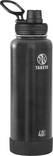 Takeya - Actives 40-Oz. Insulated Stainless Steel Water Bottle with Spout Lid - Slate
