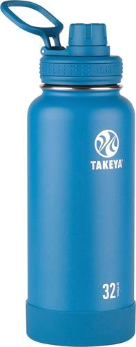 Takeya - Actives 32-Oz. Insulated Stainless Steel Water Bottle with Spout Lid - Sapphire