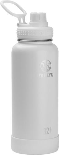 Takeya - Actives 32-Oz. Insulated Stainless Steel Water Bottle with Spout Lid - Arctic