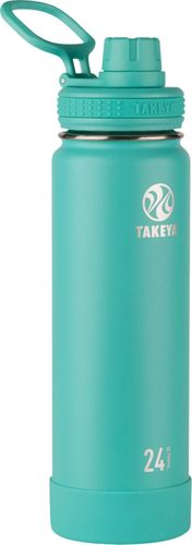 Takeya 24oz Actives Insulated Stainless Steel Water Bottle with Spout Lid - Teal