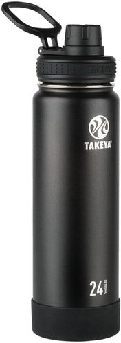 Takeya 24oz Actives Insulated Stainless Steel Water Bottle with Spout Lid  - Black