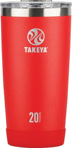 Takeya - Actives 20-Oz. Insulated Stainless Steel Tumbler with Flip Lid - Fire