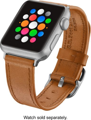 check out 84a8a d63ca Platinum Leather Watch Strap for Apple Watch (PT-AWB38OSL) Old ...