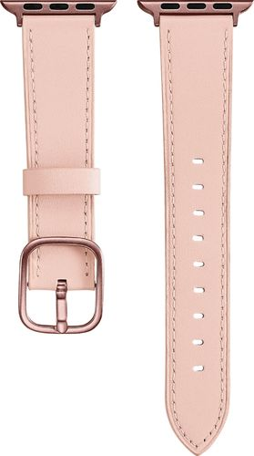 Platinum - Leather Watch Strap for Apple Watch™ 38mm and 40mm - Pink