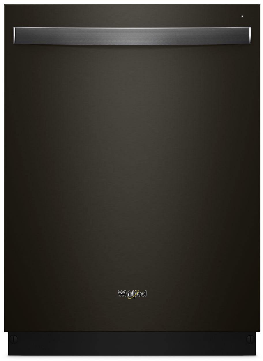 "Whirlpool 24"" Built-In Dishwasher Black stainless steel WDT730PAHV"
