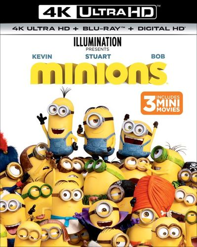 Minions [Includes Digital Copy] [UltraViolet] [Blu-ray] [2 Discs] [4K Ultra HD Blu-ray] [2015] 5984539