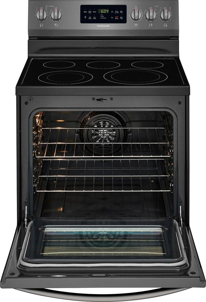 Frigidaire FFEF3056TD 5.4 Cu. Ft. Self-Cleaning Freestanding Electric Convection Range Black stainless steel