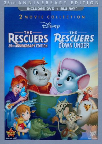 Rescuers: 35th Anniversary Edition/The Rescuers Down Under [3 Discs] [DVD/Blu-ray] [Blu-ray/DVD] 5994976