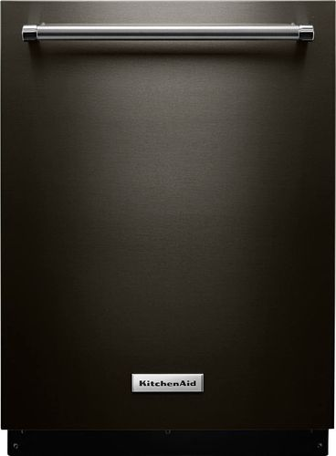 KitchenAid Top Control Built-In Tall Tub Dishwasher in PrintShield Black Stainless with Fan-Enabled ProDry, 39 dBA