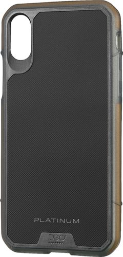 Platinum - Protective Case for Apple® iPhone® X and XS - Black/Orange
