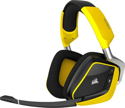 Corsair Void Pro RGB SE Wireless Dolby 7.1-channel Surround Sound Gaming Headset - Yellow Jacket Edition