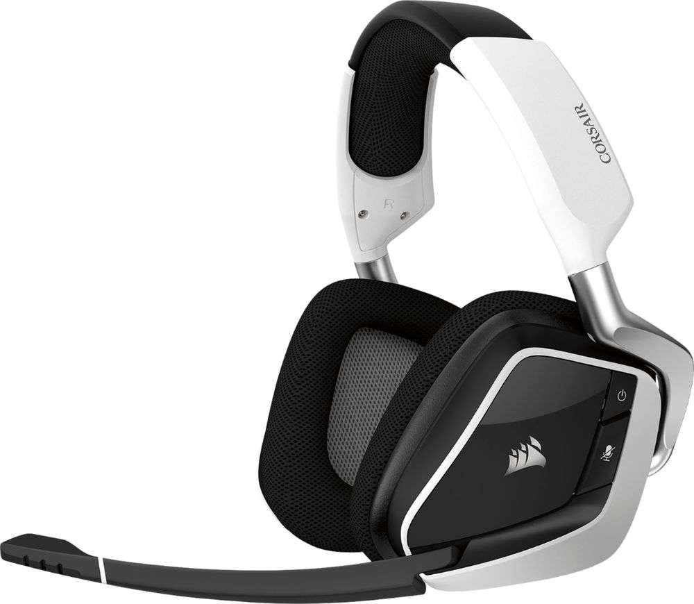 CORSAIR VOID PRO RGB Wireless Dolby 7.1-Channel Surround Sound Gaming Headset for PC White CA-9011153-NA