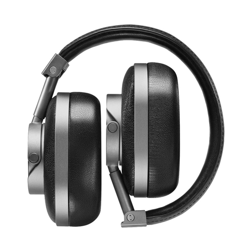 Master & Dynamic MW60 Wireless Premium Leather Over-Ear Headphones with Extended Bluetooth 4.1 Range & 45mm Neodymium Driver- Gunmetal