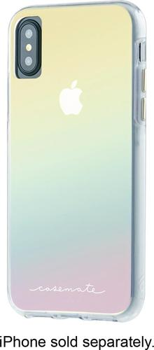 Case-Mate Naked Tough - Back cover for cell phone - iridescent - for Apple iPhone X