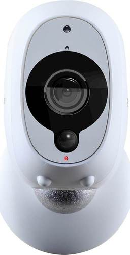 Swann - Smart Indoor/Outdoor 1080p Full HD Wi-Fi Wire-Free Security Camera - White