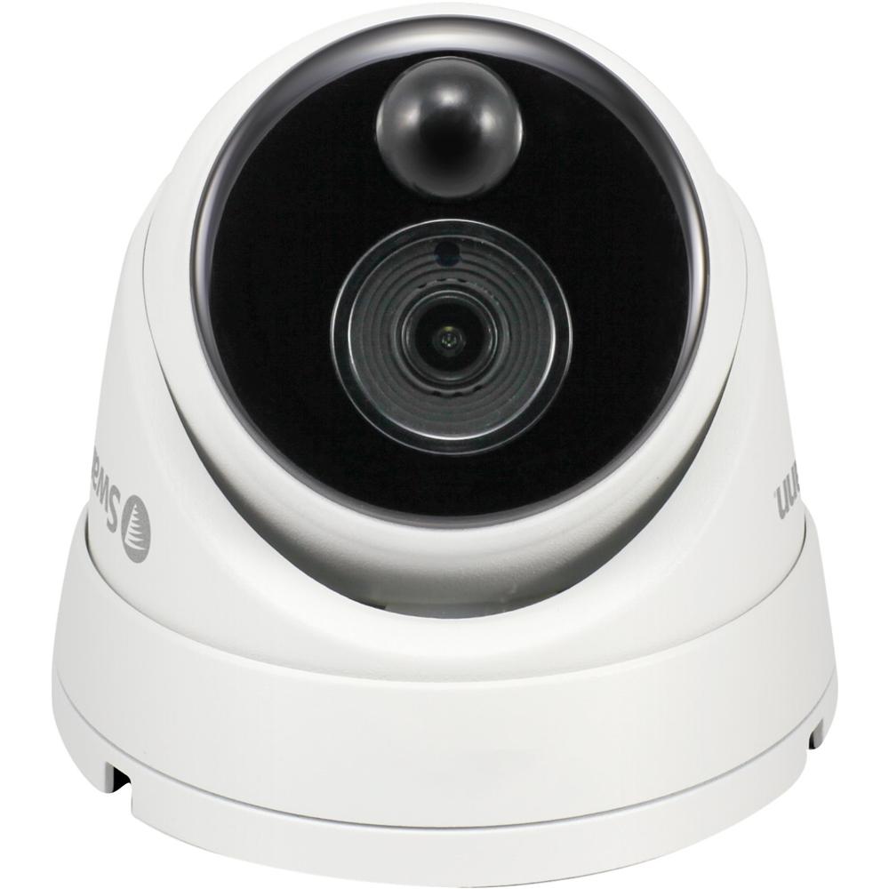 Swann - PRO-SERIES HD Indoor/Outdoor CCTV Camera - White SWPRO-1080MSD-US
