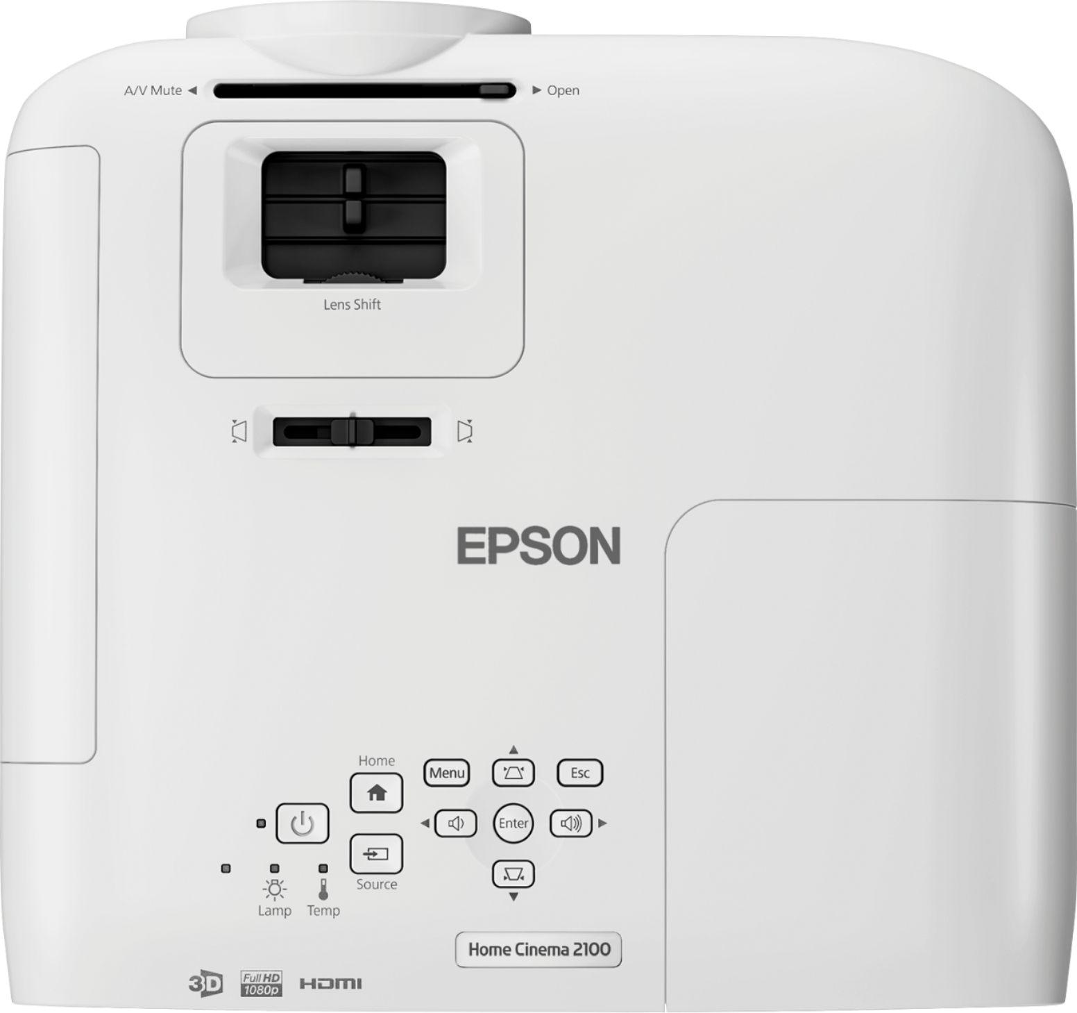 Epson EPSON HOME CINEMA 2100 V11H851 1080p 3LCD Projector White