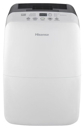 Hisense - 35-Pint Dehumidifier - White HISENSE 35-Pint Dehumidifier: Removes up to 35 pints of water per day; electronic controls with 24-hour auto on/off timer; 2 speeds