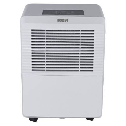 RCA - 70-Pint Portable Dehumidifier - White Designed for rooms up to 4500 sq. ft.Digital displayElectric controlAuto protection8-liter water tank