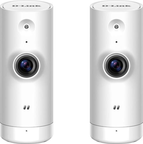 D-Link - DCS Indoor 720p Wi-Fi Network Surveillance Cameras (2-Pack) - White