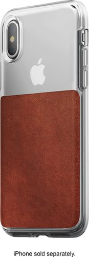 Nomad - Case for Apple® iPhone® X and XS - Brown/clear