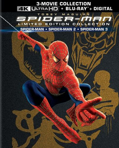 Spider-Man 1, 2 & 3 [Giftset] [Limited Edition] [4K Ultra HD Blu-ray/Blu-ray] 6036305